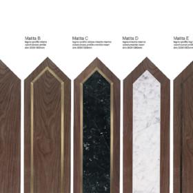 Matita American walnut – modular geometric wood floor