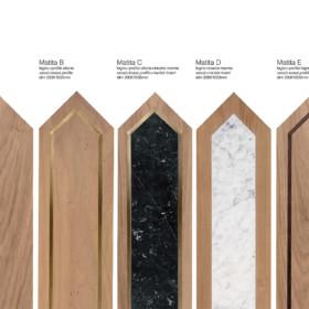 Matita European walnut – modular geometric wood floor