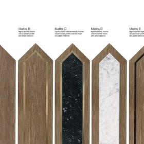 Matita Oak modular geometric wood floor
